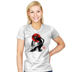 Samurai Sumi-E Exclusive - Womens - T-Shirts - RIPT Apparel