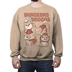 Dungeons & Doggos - Crew Neck Sweatshirt - Crew Neck Sweatshirt - RIPT Apparel