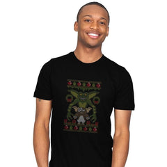 Little Monster - Ugly Holiday - Mens - T-Shirts - RIPT Apparel