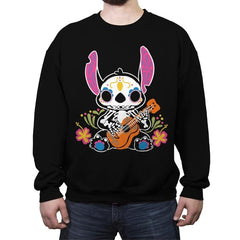 Calavera Alien - Crew Neck Sweatshirt - Crew Neck Sweatshirt - RIPT Apparel