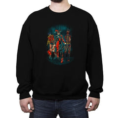 The Walking Caped Crusaders Reprint - Crew Neck Sweatshirt - Crew Neck Sweatshirt - RIPT Apparel