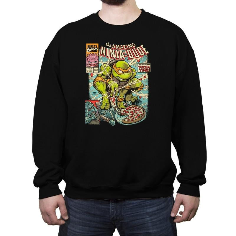 The Amazing Ninja Dude - Crew Neck Sweatshirt - Crew Neck Sweatshirt - RIPT Apparel