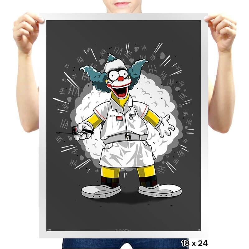 Nurse Krusty - Prints - Posters - RIPT Apparel