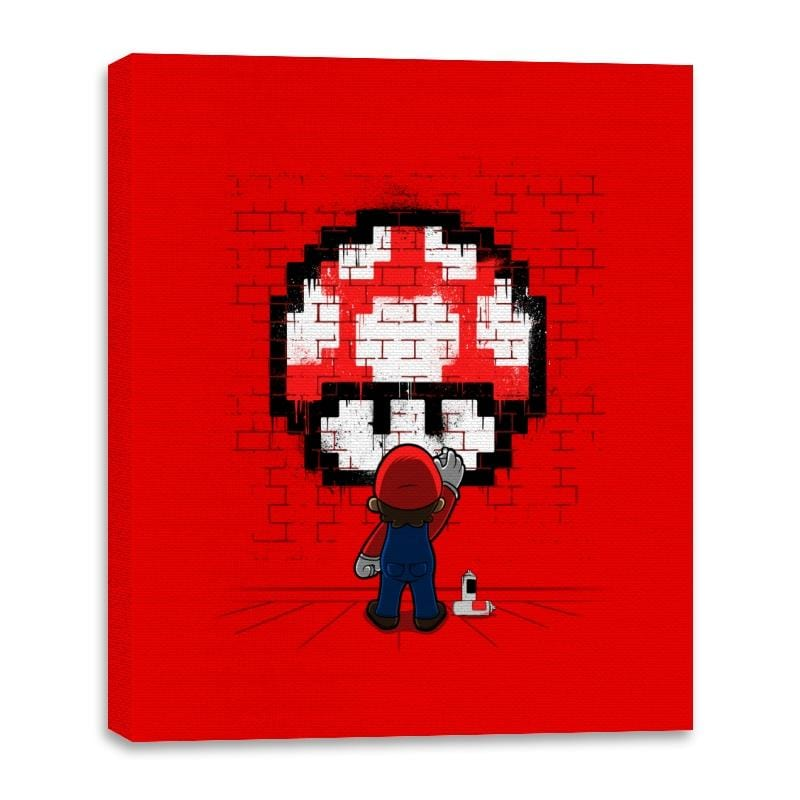 Mushroom Graffiti - Canvas Wraps - Canvas Wraps - RIPT Apparel