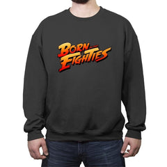 Born in the Eighties - Crew Neck Sweatshirt - Crew Neck Sweatshirt - RIPT Apparel