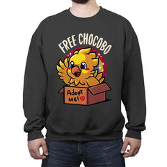 Free Chocobo - Crew Neck Sweatshirt - Crew Neck Sweatshirt - RIPT Apparel