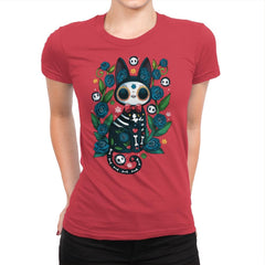 Calavera Witched Cat - Womens Premium - T-Shirts - RIPT Apparel