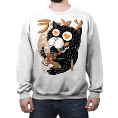 Cat Love Ramen - Crew Neck Sweatshirt - Crew Neck Sweatshirt - RIPT Apparel