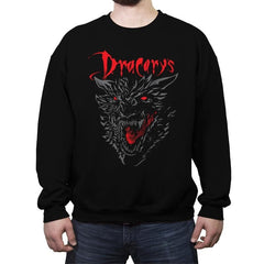 Count Dracarys - Crew Neck Sweatshirt - Crew Neck Sweatshirt - RIPT Apparel