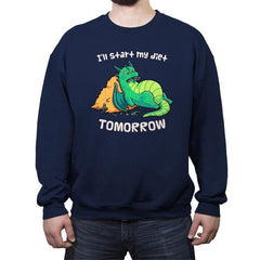 Tomorrow is a New Day - Crew Neck Sweatshirt - Crew Neck Sweatshirt - RIPT Apparel