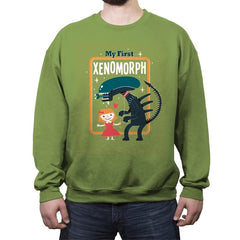 My First Xenomorph - Crew Neck Sweatshirt - Crew Neck Sweatshirt - RIPT Apparel