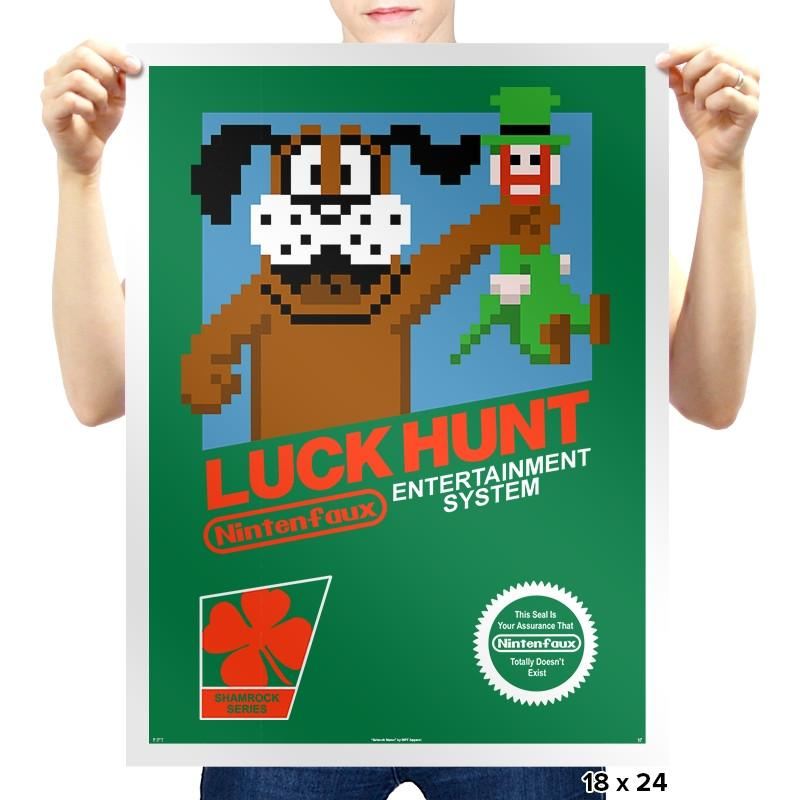 Luck Hunt Exclusive - St Paddys Day - Prints - Posters - RIPT Apparel
