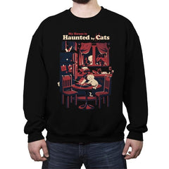 Haunted by Cats - Crew Neck Sweatshirt - Crew Neck Sweatshirt - RIPT Apparel