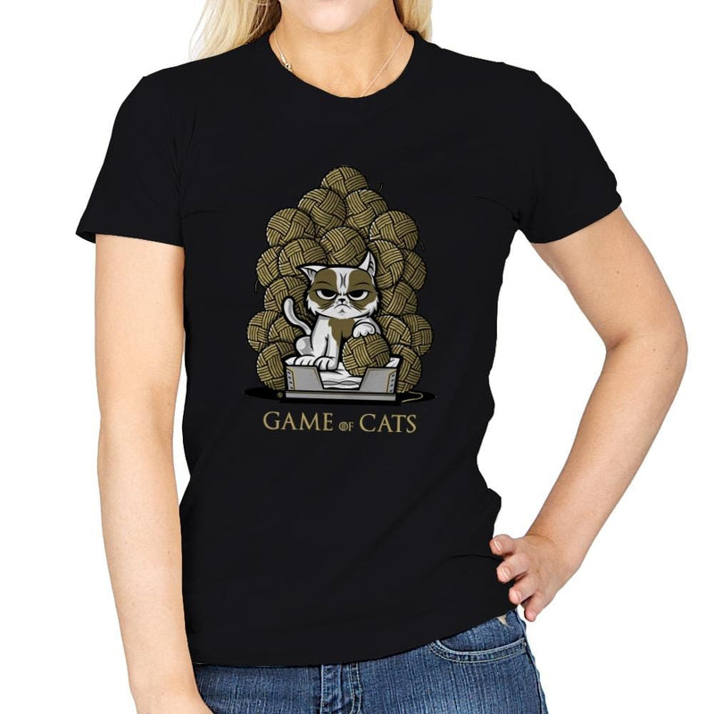Game Of Cats - Womens - T-Shirts - RIPT Apparel