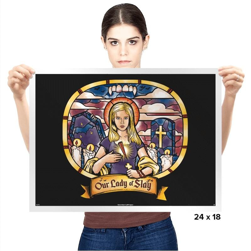 Our Lady of Slay - Prints - Posters - RIPT Apparel