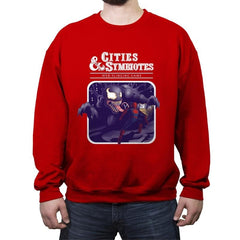 Cities & Symbiotes - Crew Neck Sweatshirt - Crew Neck Sweatshirt - RIPT Apparel