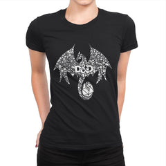 Mosaic Dragon - Womens Premium - T-Shirts - RIPT Apparel