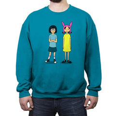 Burger Sisters - Crew Neck Sweatshirt - Crew Neck Sweatshirt - RIPT Apparel