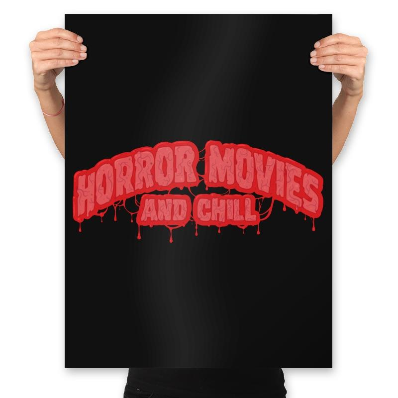 Horror Movies and Chill - Prints - Posters - RIPT Apparel