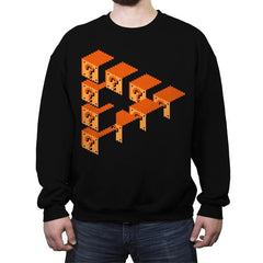 Impossible Blocks - Crew Neck Sweatshirt - Crew Neck Sweatshirt - RIPT Apparel