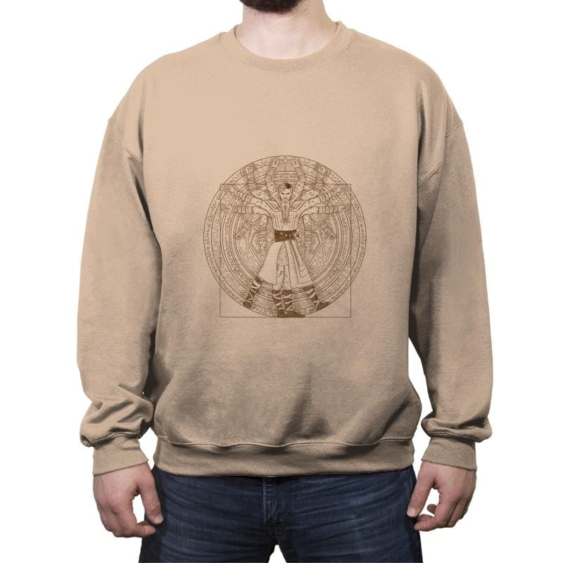 Dr. Vitruvian - Crew Neck Sweatshirt - Crew Neck Sweatshirt - RIPT Apparel