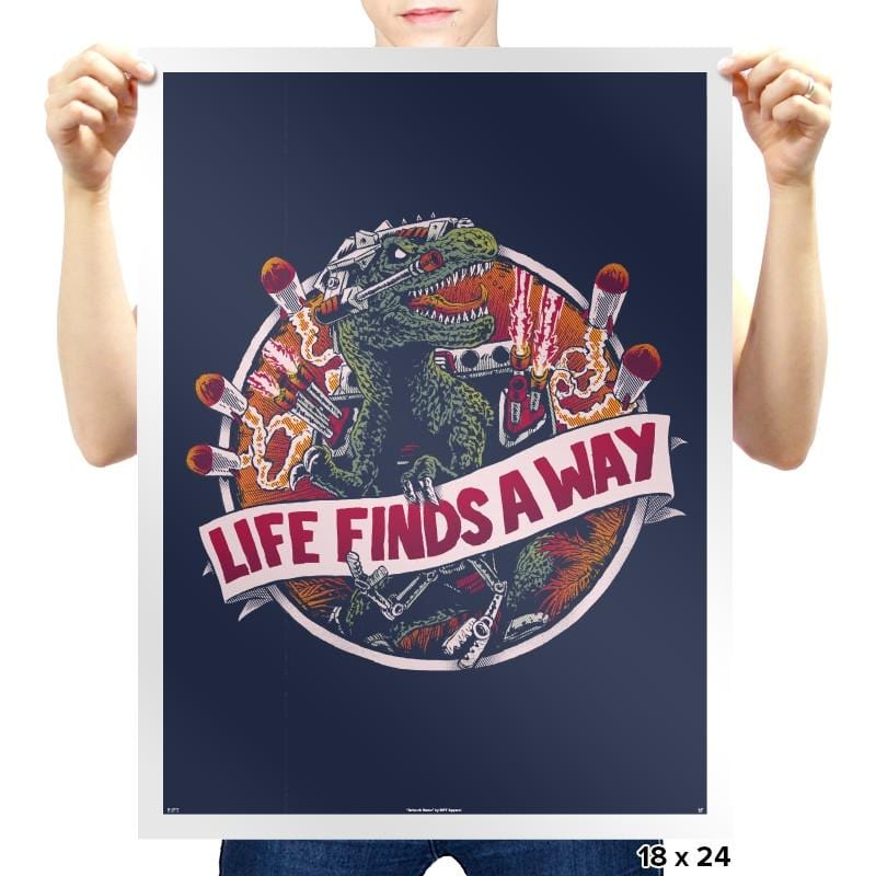Life Finds A Way Exclusive - Prints - Posters - RIPT Apparel