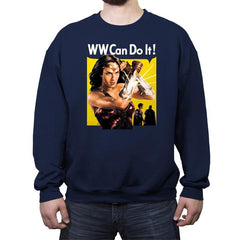 WW Can Do It! - Crew Neck Sweatshirt - Crew Neck Sweatshirt - RIPT Apparel