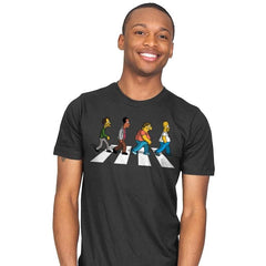 The Moes on Abbey Road - Mens - T-Shirts - RIPT Apparel