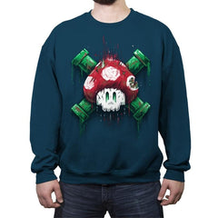 Mushroom Skull - Crew Neck Sweatshirt - Crew Neck Sweatshirt - RIPT Apparel