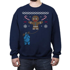 Ugly Cookie! - Ugly Holiday - Crew Neck Sweatshirt - Crew Neck Sweatshirt - RIPT Apparel