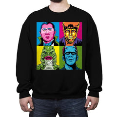 Pop Monster - Crew Neck Sweatshirt - Crew Neck Sweatshirt - RIPT Apparel