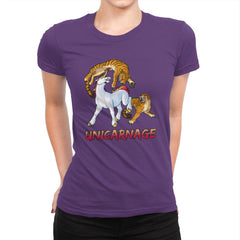 Unicarnage - Womens Premium - T-Shirts - RIPT Apparel