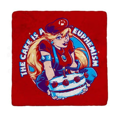The Cake is a Euphemism - 80s Blaarg - Coasters - Coasters - RIPT Apparel