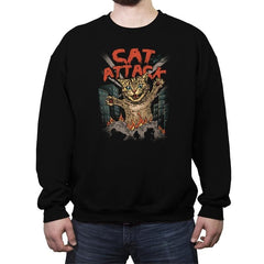 Cat Attack - Crew Neck Sweatshirt - Crew Neck Sweatshirt - RIPT Apparel