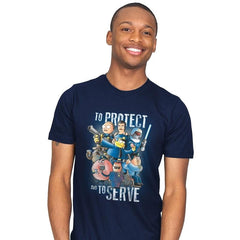 To Protect and To Serve - Mens - T-Shirts - RIPT Apparel