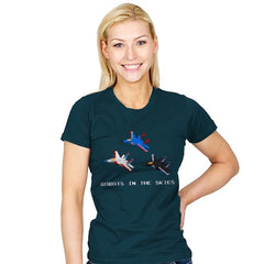 Robots in the Skies - Womens - T-Shirts - RIPT Apparel