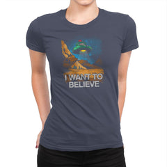 Believe In the Cosmos Exclusive - Womens Premium - T-Shirts - RIPT Apparel