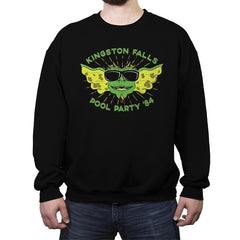 Pool Party '84 - Crew Neck Sweatshirt - Crew Neck Sweatshirt - RIPT Apparel