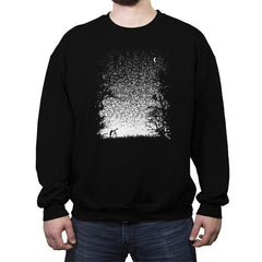 Pixel Space - Back to Nature - Crew Neck Sweatshirt - Crew Neck Sweatshirt - RIPT Apparel