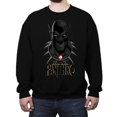 Black Panthro - Crew Neck Sweatshirt - Crew Neck Sweatshirt - RIPT Apparel