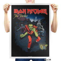 Iron Michael: The Thriller Exclusive - Prints - Posters - RIPT Apparel