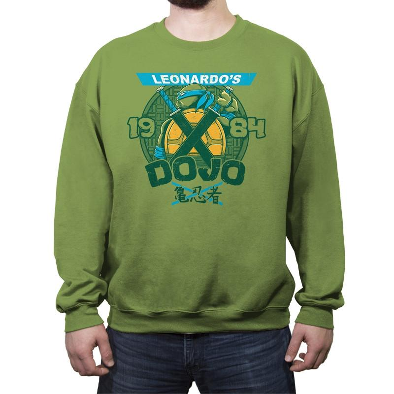 Leo's Dojo - Crew Neck Sweatshirt - Crew Neck Sweatshirt - RIPT Apparel