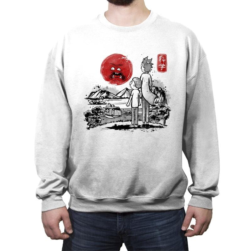 Screaming Red Sun - Crew Neck Sweatshirt - Crew Neck Sweatshirt - RIPT Apparel