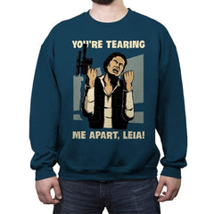 Why Leah, Why! - Crew Neck Sweatshirt - Crew Neck Sweatshirt - RIPT Apparel