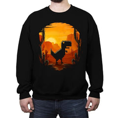 No Internet Dino - Crew Neck Sweatshirt - Crew Neck Sweatshirt - RIPT Apparel
