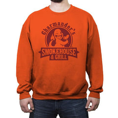 Charmander's Smokehouse & Grill - Crew Neck Sweatshirt - Crew Neck Sweatshirt - RIPT Apparel