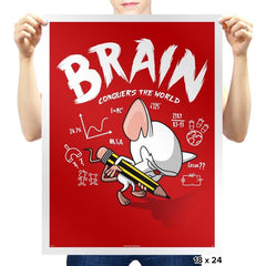 Brain Conquers The World! - Prints - Posters - RIPT Apparel