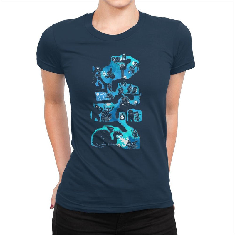 Dungeon Crawlers - Womens Premium - T-Shirts - RIPT Apparel
