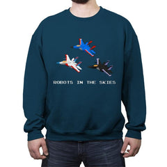 Robots in the Skies - Crew Neck Sweatshirt - Crew Neck Sweatshirt - RIPT Apparel