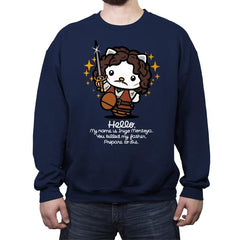 Hello Inigo B - Crew Neck Sweatshirt - Crew Neck Sweatshirt - RIPT Apparel